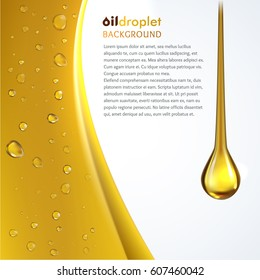 Oily drop wave background
