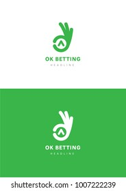 OK betting logo template.