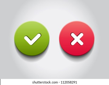 OK and Cancel vector round web buttons