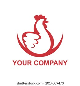 ok chicken logos for farms, shops, restaurants, factories, chicken or meat product labels