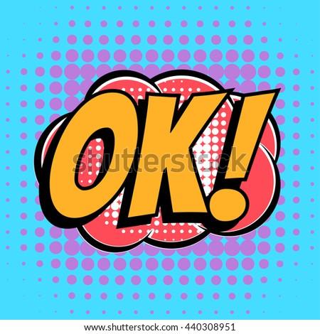 56d4fef90a Ok Comic Book Bubble Text Retro Stock Vector (Royalty Free ...