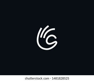 Ok fingers logo design modern minimal style illustration. Linear hand gesture vector icon symbol logotype