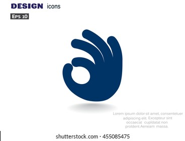 Ok icon vector.