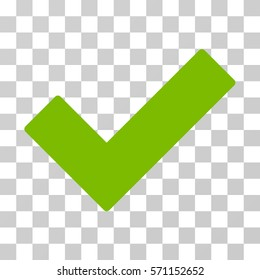 Ok Tick icon. Vector illustration style is flat iconic symbol, eco green color, transparent background. Designed for web and software interfaces.