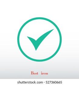 ok vector icon, vector best flat icon, EPS
