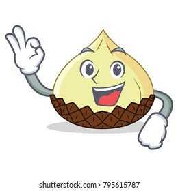 Okay snake fruit character cartoon