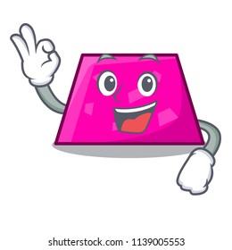 Okay trapezoid character cartoon style