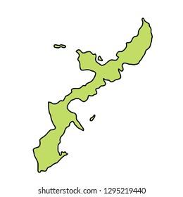 Okinawa Map frame icon