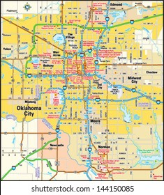 Oklahoma City, Oklahoma area map