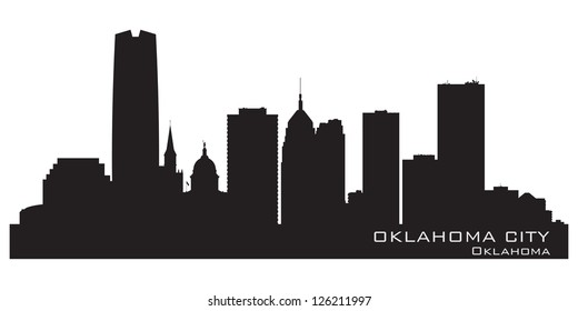 Oklahoma City skyline. Detailed silhouette. Vector illustration