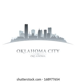 Oklahoma city skyline silhouette. Vector illustration