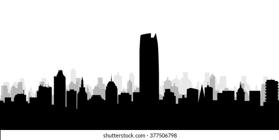 Oklahoma City Skyline - Vector