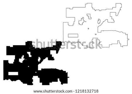 Oklahoma City United States Cities United Stock Vector (Royalty Free ...