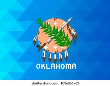 Oklahoma Flag vector illustration. Oklahoma Flag. National Flag of Oklahoma. Mosaic flag. Vector