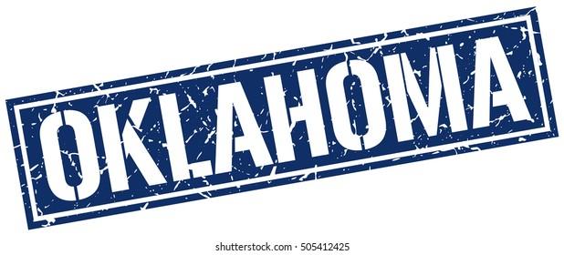 Oklahoma. Grunge vintage Oklahoma square stamp. Oklahoma stamp.