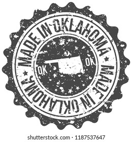 Oklahoma Made In Map Travel Stamp Icon City Design Tourism Export Seal