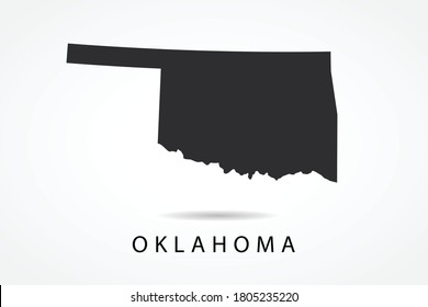 Oklahoma Map - USA, United States of America map, World Map International vector template isolated on white background - Vector illustration eps 10