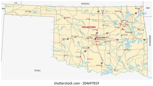 Oklahoma Map Images, Stock Photos & Vectors | Shutterstock on kansas state physical map, map of kansas and oklahoma, kansas soil maps, missouri pacific railroad map oklahoma,