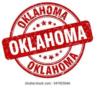 Oklahoma. stamp. red round grunge vintage Oklahoma sign