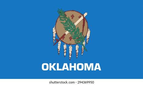 Oklahoma state national flag. Vector EPS8