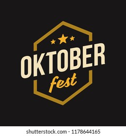 Oktober Fest Label. Beer Festival logo. Event branding and marketing. Vector vintage illustration.