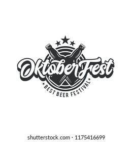 Oktober fest lettering, Oktober fest banner logotype vector icon