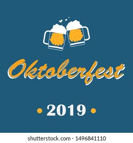 Oktoberfest 2019. Background for german holiday with strong drink