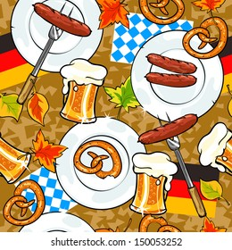 Oktoberfest background, seamless pattern.