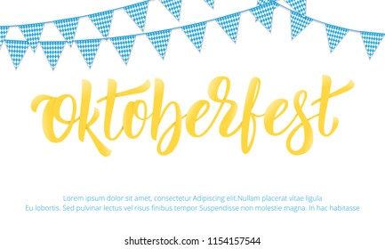 Oktoberfest. Banner design for German beer festival Oktoberfest with modern lettering