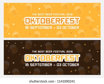 Oktoberfest banner vector illustration