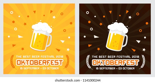 Oktoberfest banner vector illustration