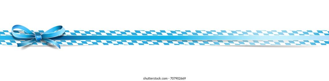 Oktoberfest bavarian ribbon banderole