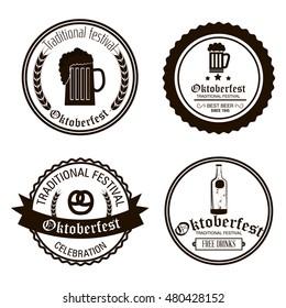 oktoberfest beer festival isolated vector illustration eps 10