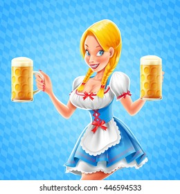 oktoberfest beer with girl