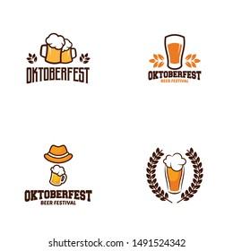 Oktoberfest Carnivals Logo Design Vector