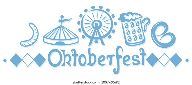 Oktoberfest design with traditional elements.