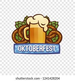 Oktoberfest festival logo. Cartoon of oktoberfest festival vector logo for web design