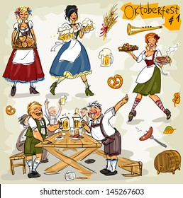 Oktoberfest - hand drawn clip art collection  - part 1. Sketch, isolated