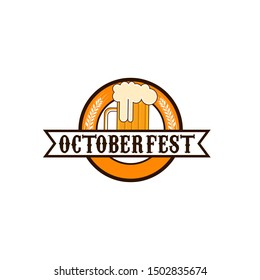 Oktoberfest Logo Design Vector Template