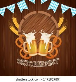 oktoberfest party. design background, banner, card, template