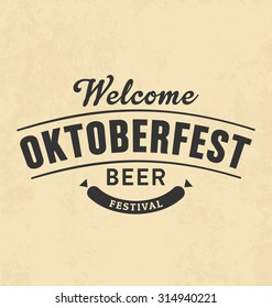 Oktoberfest Typographic Design - Poster Vector Design for Beer Festival
