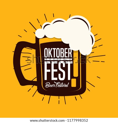 Oktoberfest Typography Vector Design For Greeting Cards And Poster Beer Festival Banner