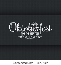 Oktoberfest vintage logo design background