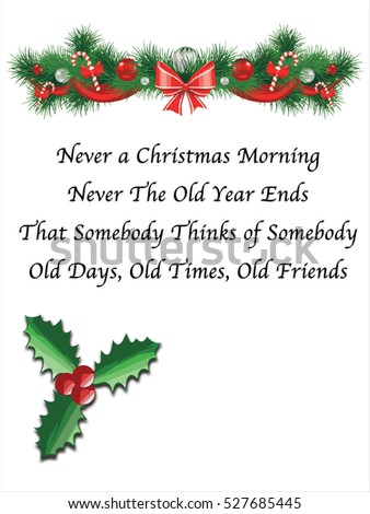 old age saying christmas and new year greeting card