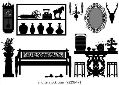 Old Antique Traditional Furniture Design Decoration