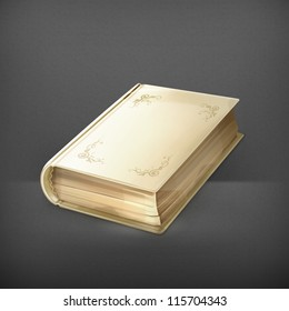 Old book vector, icon