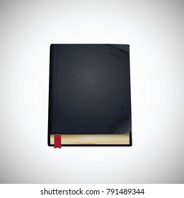 Old book, vector illustration