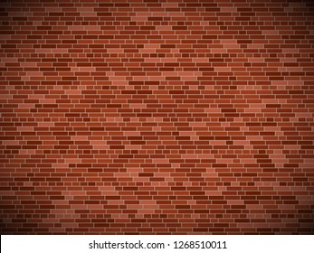 old brick wall background with vignette. vector brick wall texture