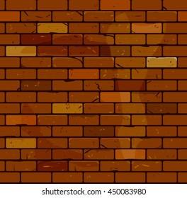 Old brick wall. Brick seamless pattern