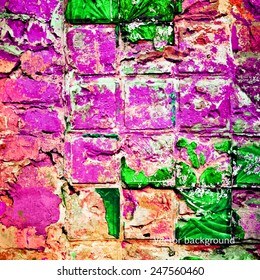 old brick wall, vector grunge background